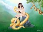 История про девушку, змею, ещё одну змею и большой камень