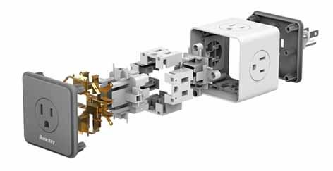 Компания  Huntkey  представляет зарядный блок  в форме кубика на AWE 2018