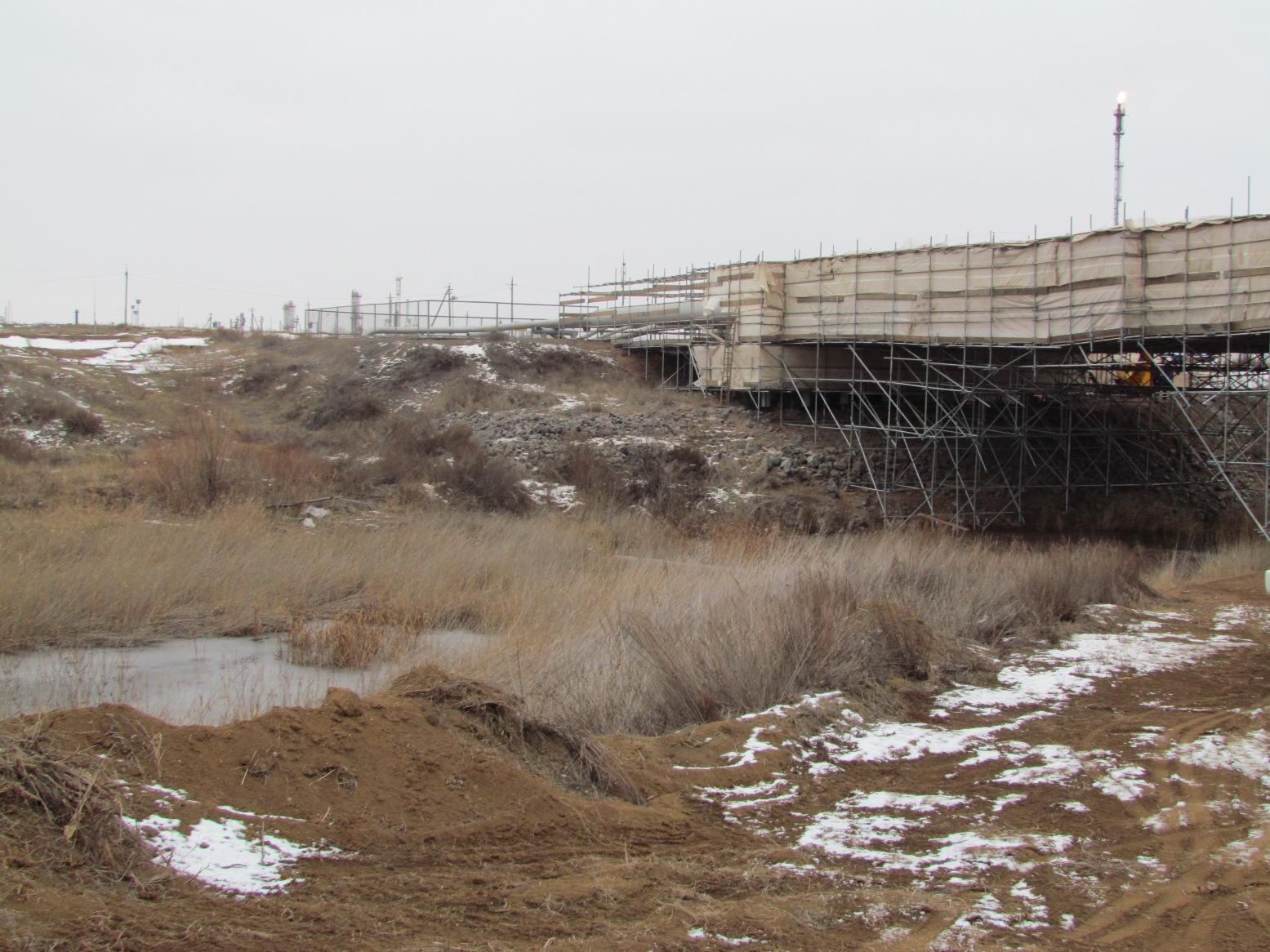 На западе Казахстана.