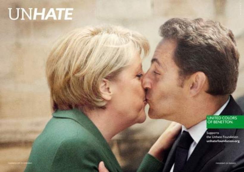 Benetton Unhate. Когда мировые лидеры целуются…