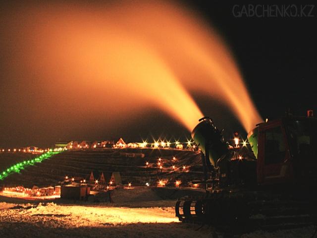 Места пригодные для ночных катаний на горных лыжах и сноуборде в Алматы