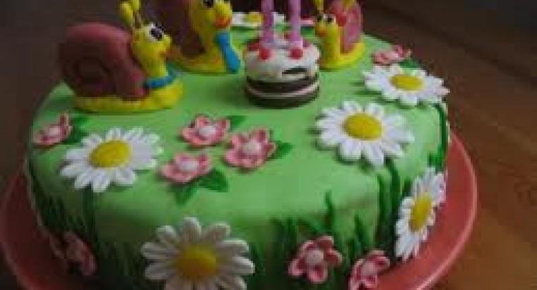 Торт с днем рождения на два годика