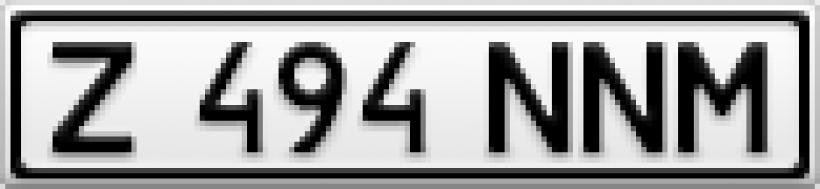 Информеры в виде номера автомобиля