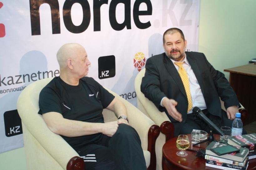 Василий Головачев и Сергей Лукьяненко на Horde.kz
