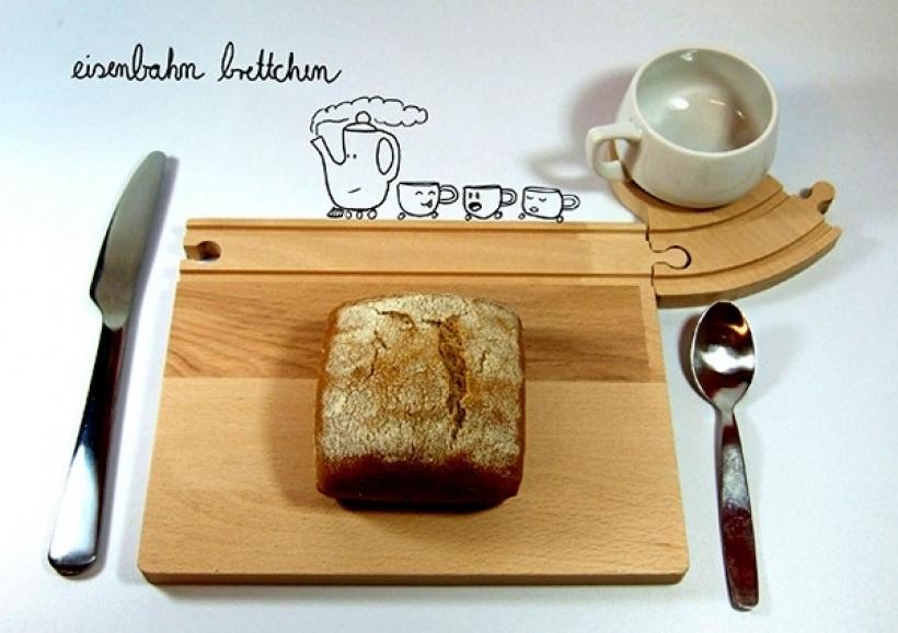 """Станция """"Обеденная"""". Детская посуда Train Breakfast Set от компании Neue Freunde"""
