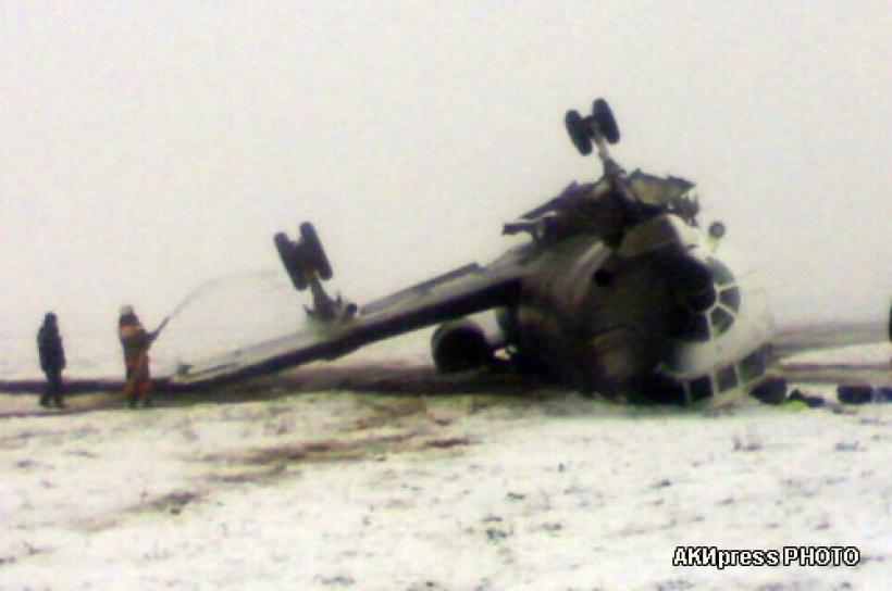 Фоторепортаж с места крушения самолета Ту-134 в Оше