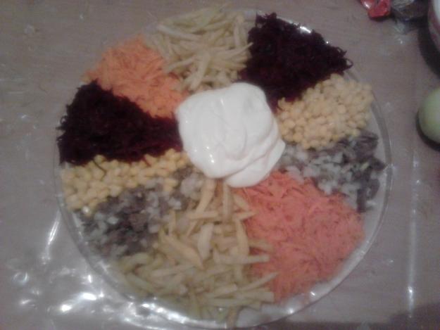 Салат Цветик-семицветик)