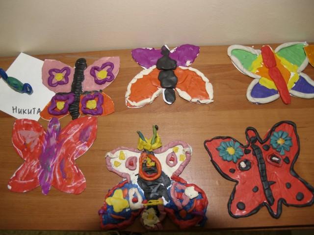 Пластилиновые бабочки