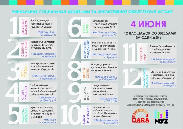 Беспрецедентная социальная акция с участием детей и звезд российской и казахстанской эстрады